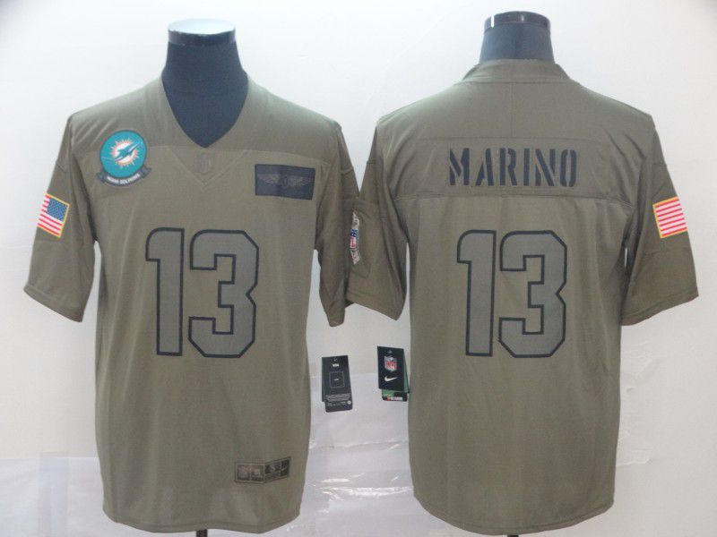 Men Miami Dolphins 13 Marino Nike Camo 2019 Salute to Service Limited NFL Jerseys