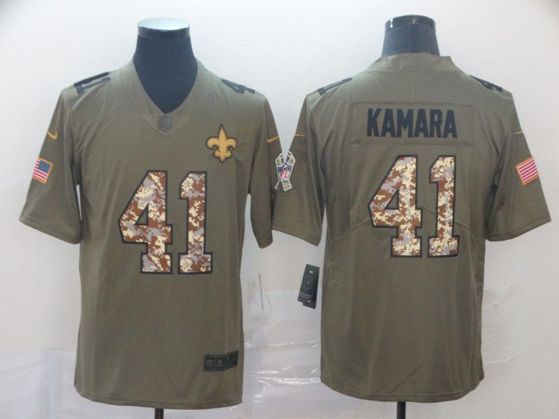 Men New Orleans Saints 41 Kamara Nike 2019 Olive Camo Salute to Service Limited NFL Jerseys