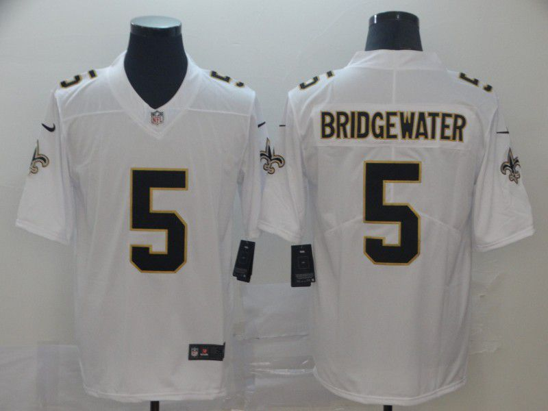 Men New Orleans Saints 5 Bridgewater White Nike Vapor Untouchable Limited Player NFL Jerseys