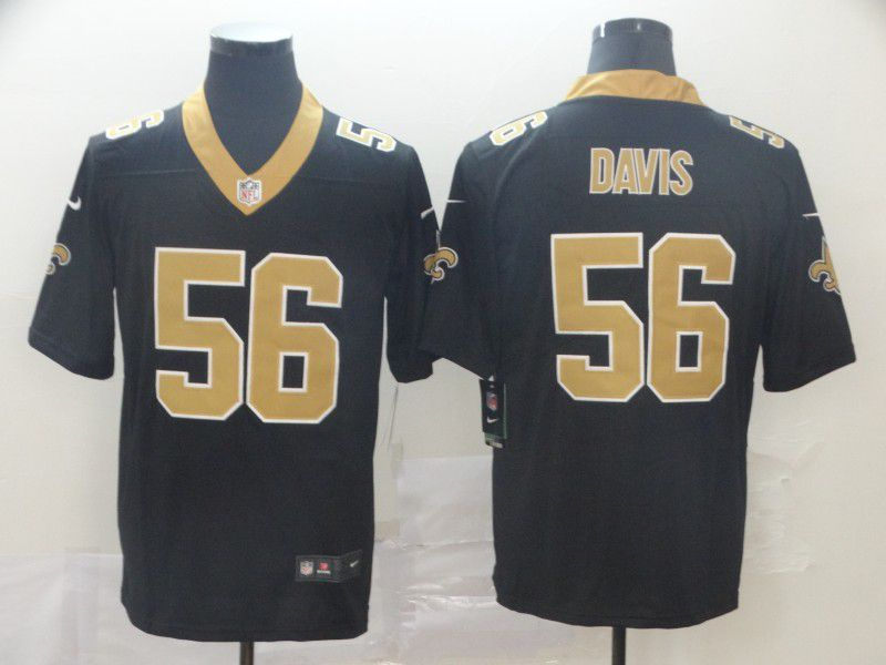 Men New Orleans Saints 56 Davis Black Nike Vapor Untouchable Limited Player NFL Jerseys
