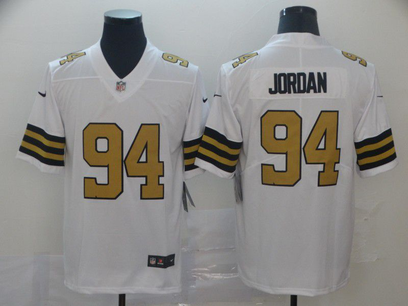 Men New Orleans Saints 94 Jordan White Nike Vapor Untouchable Limited Player NFL Jerseys