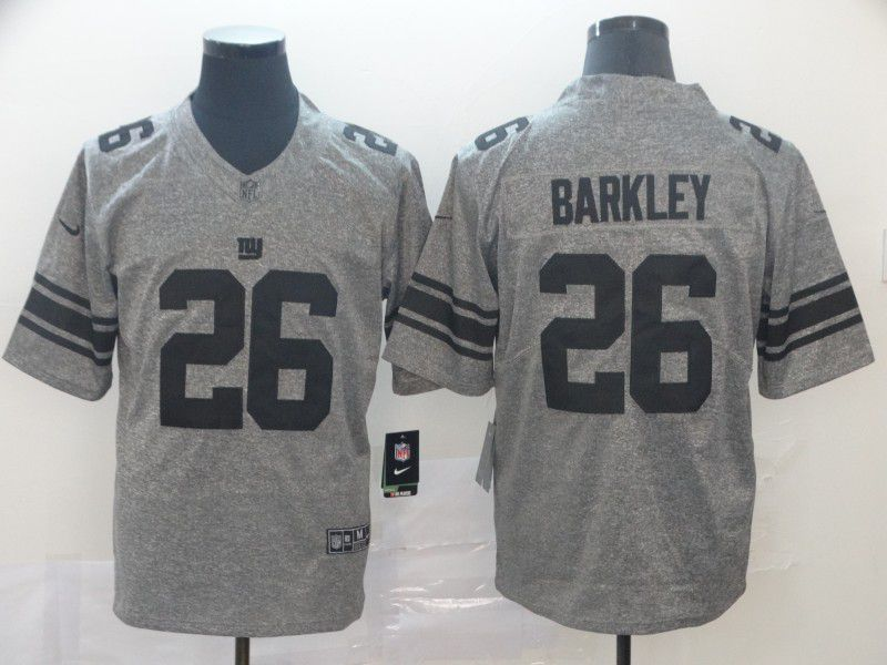 Men New York Giants 26 Barkley Gray Nike Vapor Untouchable Stitched Gridiron Limited NFL Jerseys