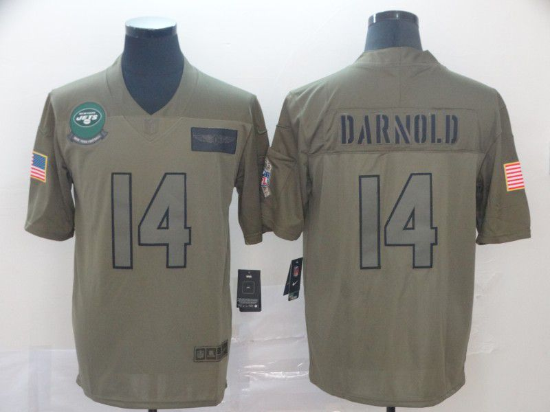 Men New York Jets 14 Darnold Nike Camo 2019 Salute to Service Limited NFL Jerseys