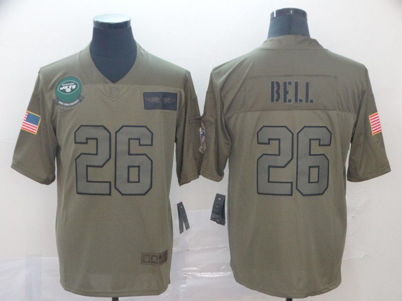 Men New York Jets 26 Bell Nike Camo 2019 Salute to Service Limited NFL Jerseys