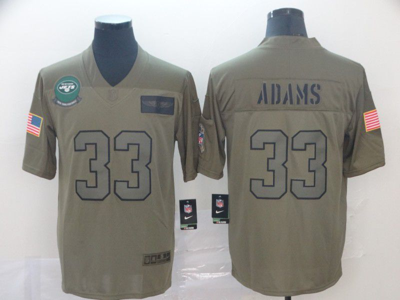 Men New York Jets 33 Adams Nike Camo 2019 Salute to Service Limited NFL Jerseys
