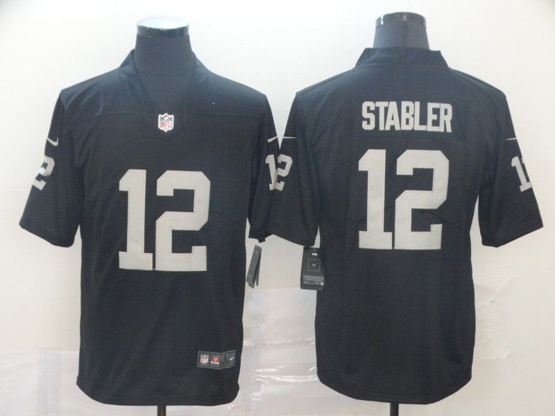 Men Oakland Raiders 12 Stabler Black Nike Vapor Untouchable Limited Player NFL Jerseys