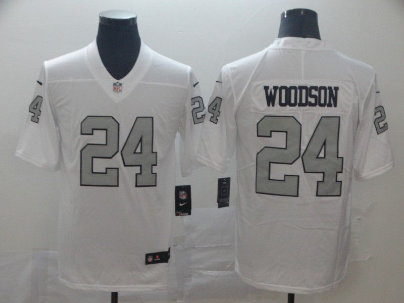 Men Oakland Raiders 24 Woodson White Nike Vapor Untouchable Limited Player NFL Jerseys