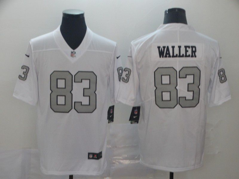 Men Oakland Raiders 83 Waller White Nike Vapor Untouchable Limited Player NFL Jerseys