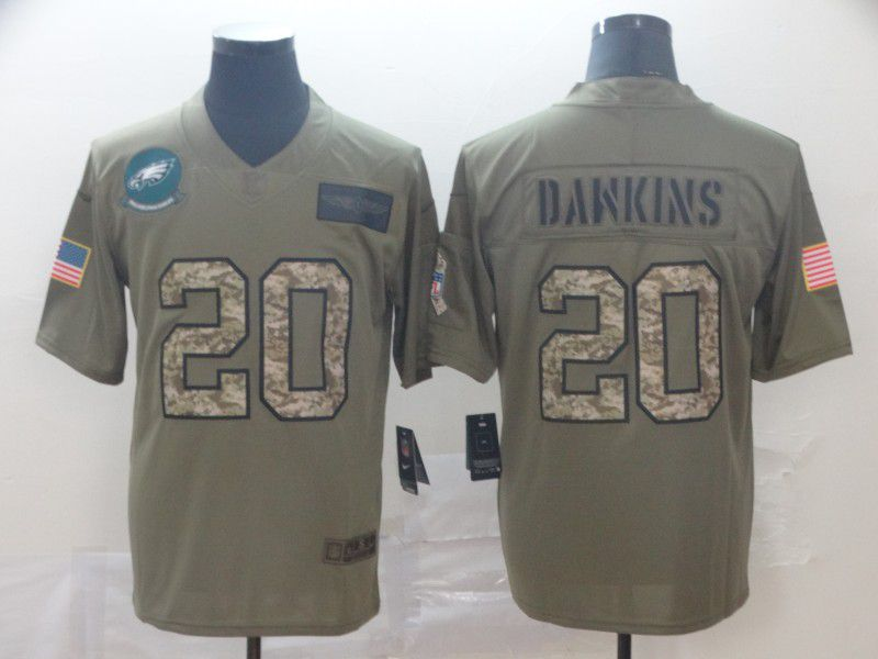 Men Philadelphia Eagles 20 Dawkins Nike 2019 Olive Camo Salute to Service Limited NFL Jerseys