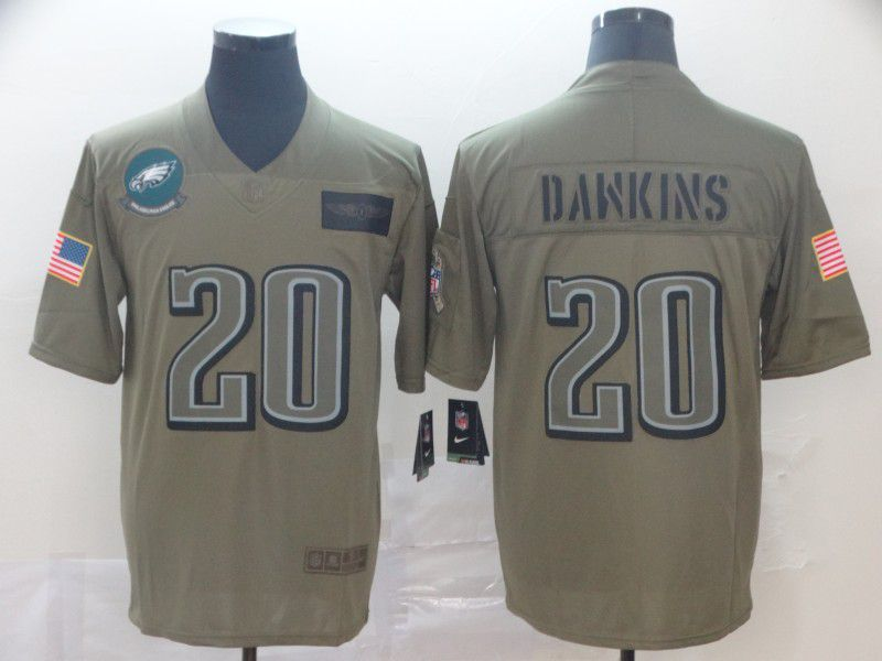 Men Philadelphia Eagles 20 Dawkins Nike Camo 2019 Salute to Service Limited NFL Jerseys
