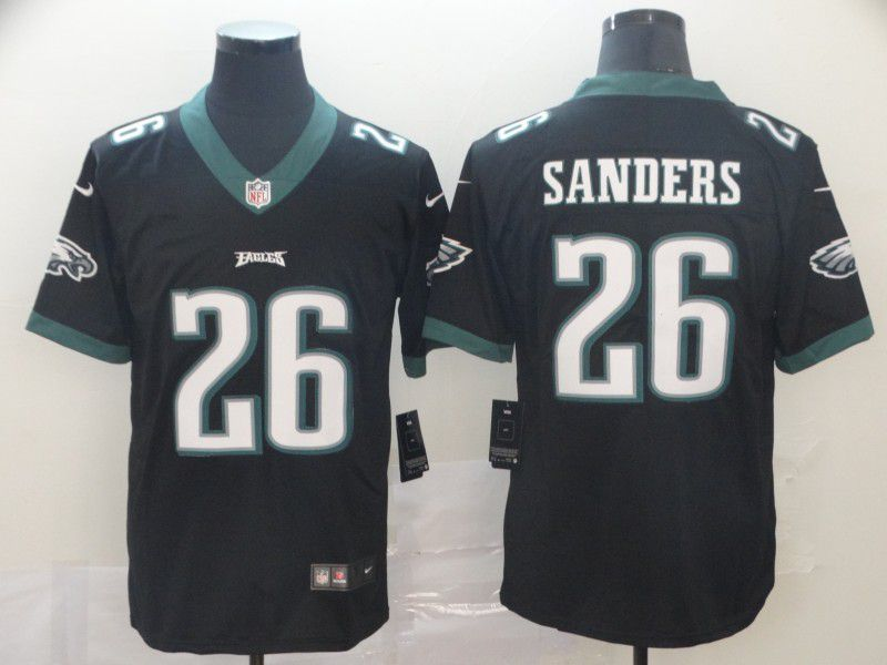 Men Philadelphia Eagles 26 Sanders Black Nike Vapor Untouchable Limited Player NFL Jerseys