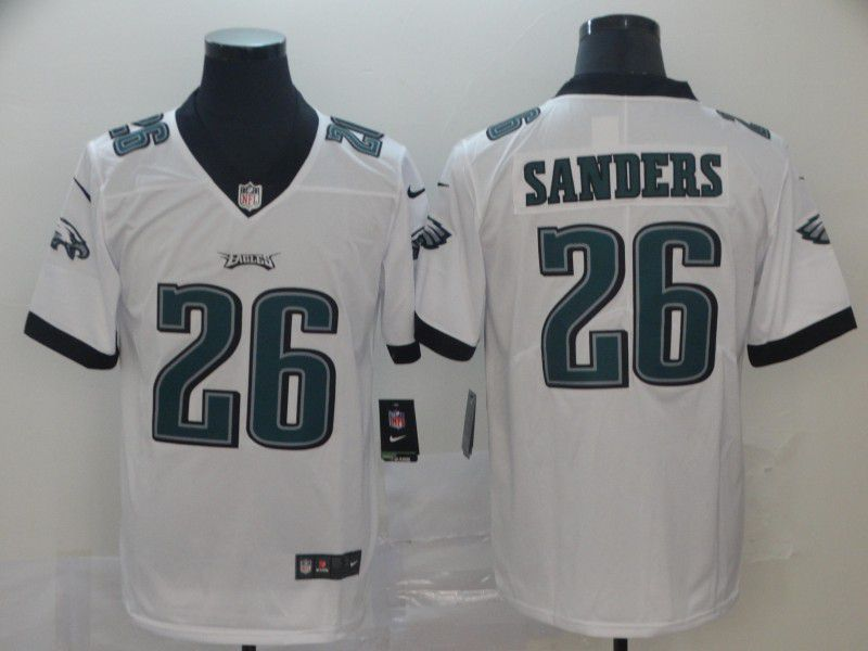 Men Philadelphia Eagles 26 Sanders White Nike Vapor Untouchable Limited Player NFL Jerseys