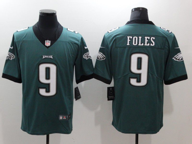Men Philadelphia Eagles 9 Foles Green Nike Vapor Untouchable Limited Player NFL Jerseys