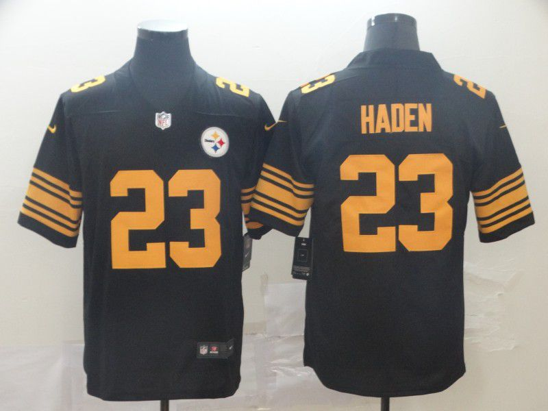 Men Pittsburgh Steelers 23 Haden Black Nike Vapor Untouchable Limited Player NFL Jerseys