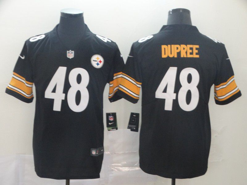 Men Pittsburgh Steelers 48 Dupree Black Nike Vapor Untouchable Limited Player NFL Jerseys