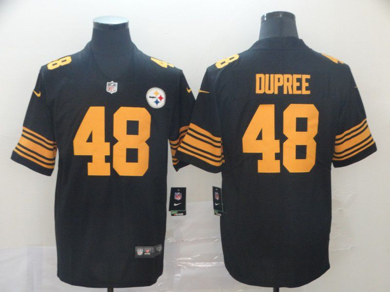 Men Pittsburgh Steelers 48 Dupree Black Nike Vapor Untouchable Limited Player NFL Jerseys1