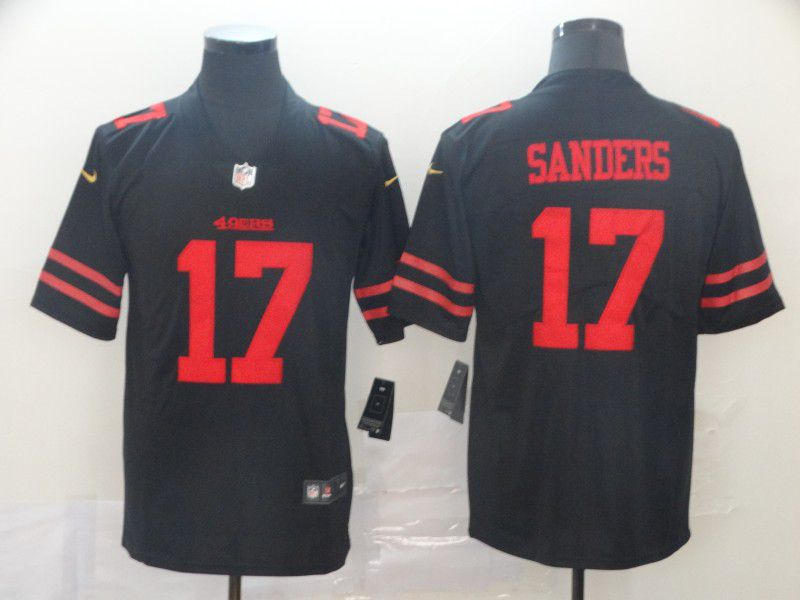 Men San Francisco 49ers 17 Sanders Black Nike Vapor Untouchable Limited Player NFL Jerseys