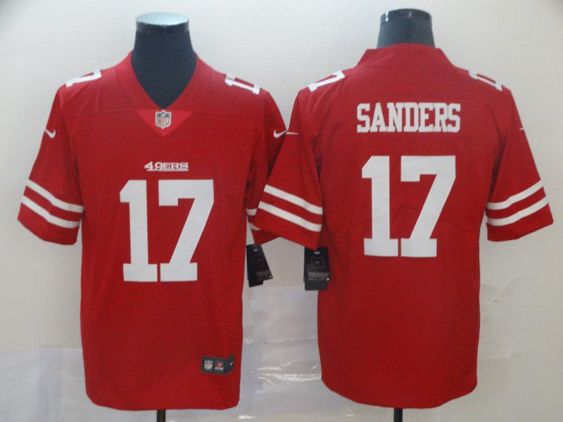 Men San Francisco 49ers 17 Sanders Red Nike Vapor Untouchable Limited Player NFL Jerseys