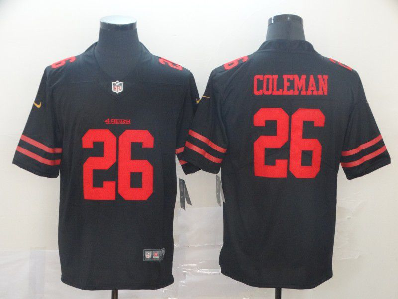 Men San Francisco 49ers 26 Coleman Black Nike Vapor Untouchable Limited Player NFL Jerseys
