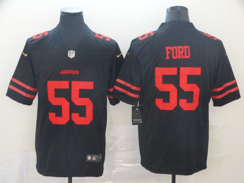 Men San Francisco 49ers 55 Ford Black Nike Vapor Untouchable Limited Player NFL Jerseys