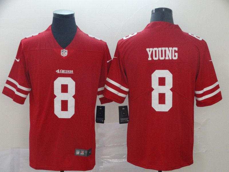Men San Francisco 49ers 8 Young Red Nike Vapor Untouchable Limited Player NFL Jerseys