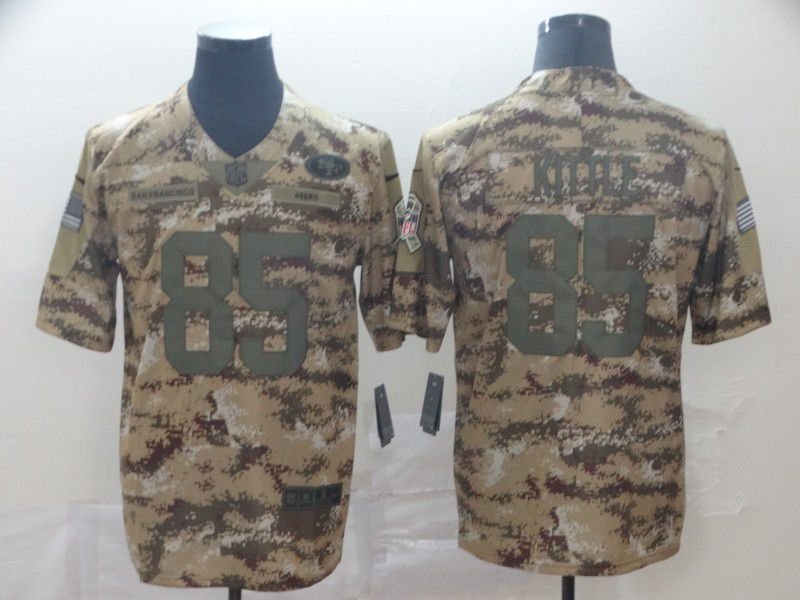 Men San Francisco 49ers 85 Kittle Nike 2019 Camo Limited NFL Jerseys