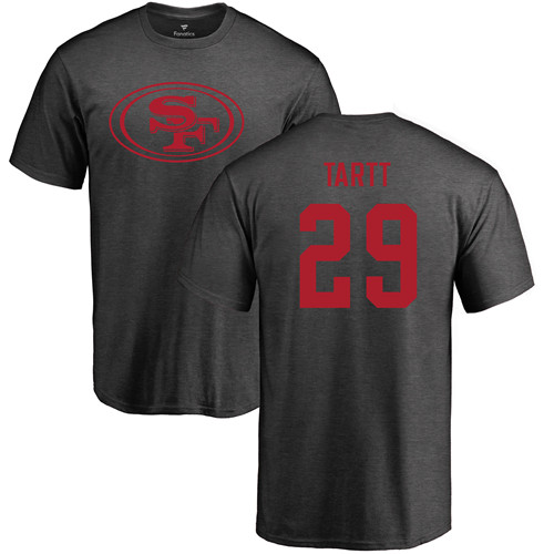 Men San Francisco 49ers Ash Jaquiski Tartt One Color 29 NFL T Shirt