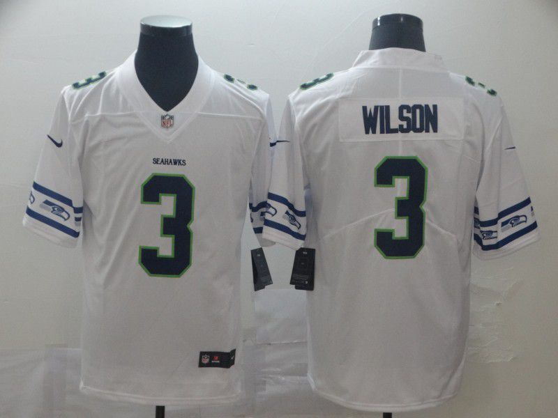 Men Seattle Seahawks 3 Wilson White team logo cool edition NFL Jerseys