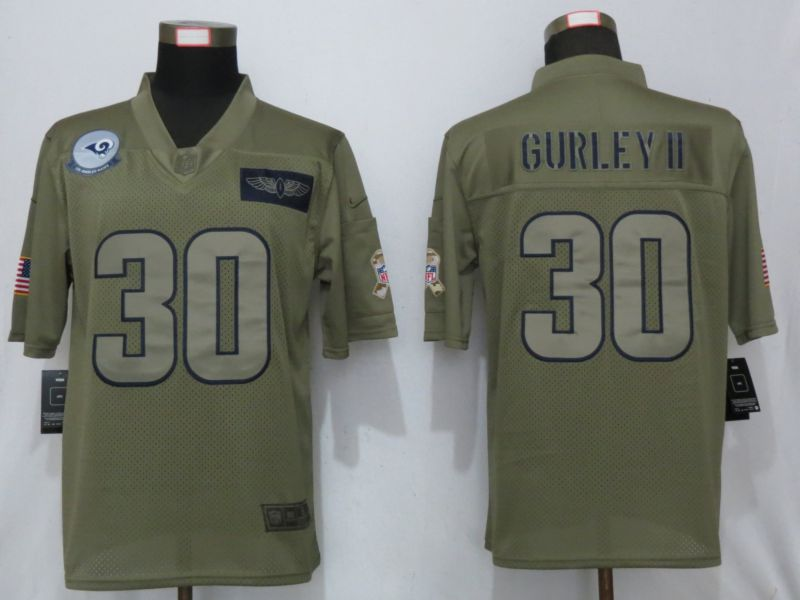 Men St.Louis Rams 30 Gurley ii Nike Camo 2019 Salute to Service Limited NFL Jerseys
