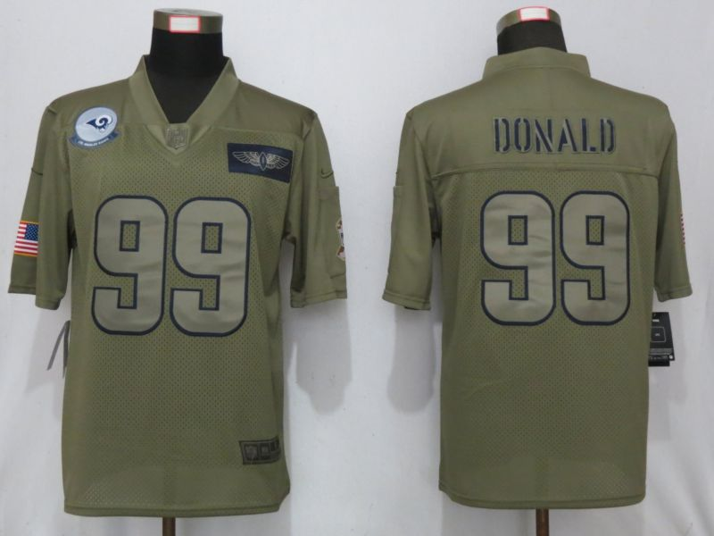 Men St.Louis Rams 99 Donald Nike Camo 2019 Salute to Service Limited NFL Jerseys