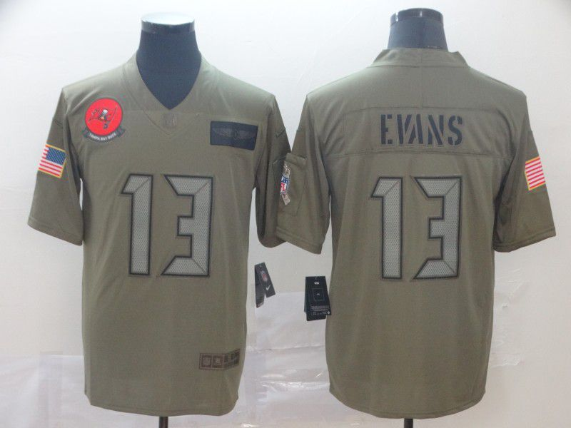 Men Tampa Bay Buccaneers 13 Evans Nike Camo 2019 Salute to Service Limited NFL Jerseys