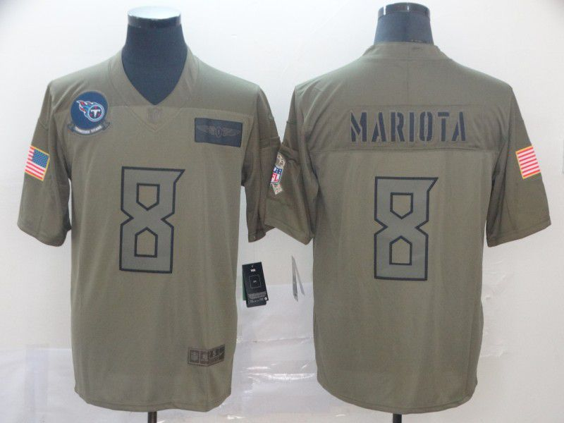 Men Tennessee Titans 8 Mariota Nike Camo 2019 Salute to Service Limited NFL Jerseys