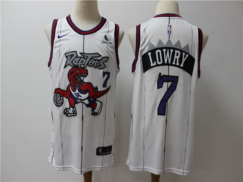 Men Toronto Raptors 7 Lowry White Game Nike NBA Jerseys