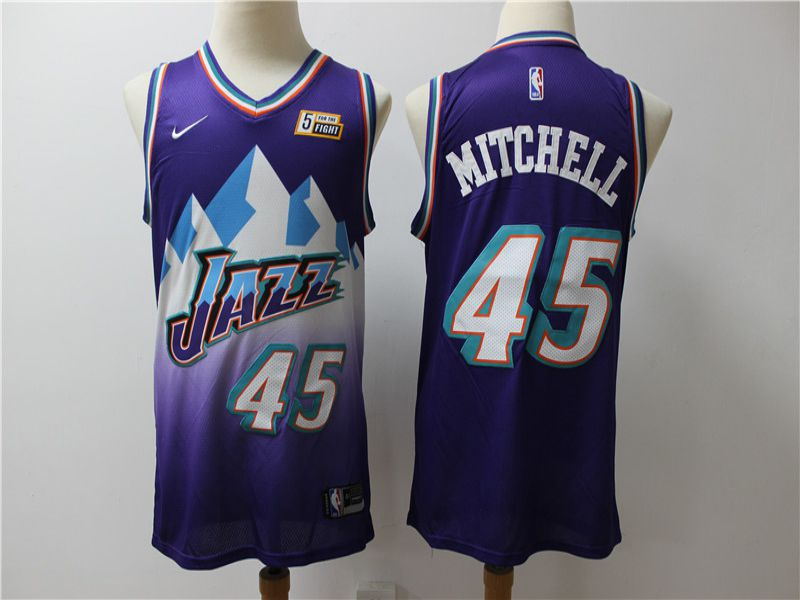 Men Utah Jazz 45 Mitchell Purple Game Nike NBA Jerseys1