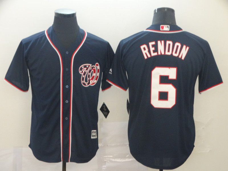 Men Washington Nationals 6 Rendon Blue Game MLB Jerseys