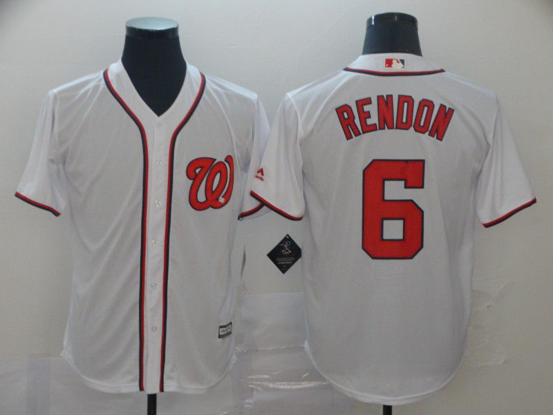 Men Washington Nationals 6 Rendon White Game MLB Jerseys