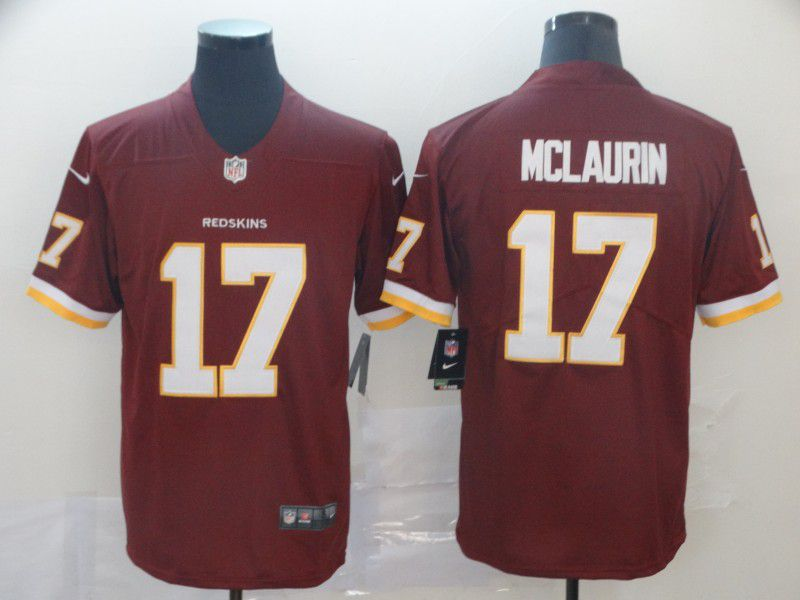 Men Washington Red Skins 17 Mclaurin Red Nike Vapor Untouchable Limited Player NFL Jerseys