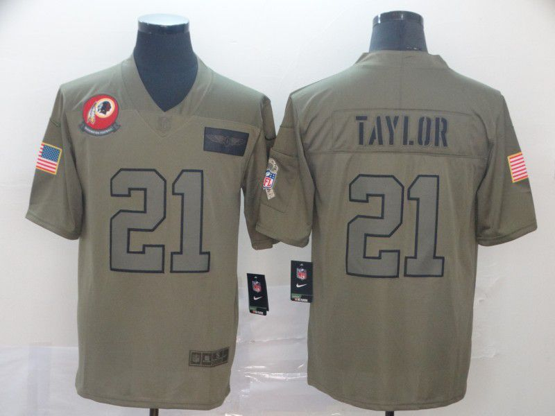 Men Washington Red Skins 21 Taylor Nike Camo 2019 Salute to Service Limited NFL Jerseys