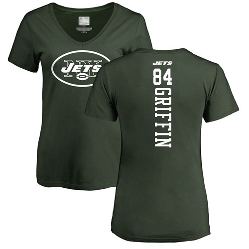 New York Jets Green Women Ryan Griffin Backer NFL Football 84 T Shirt