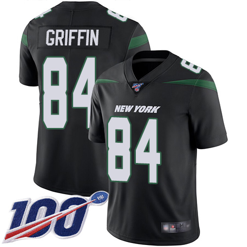 New York Jets Limited Black Men Ryan Griffin Alternate Jersey NFL Football 84 100th Season Vapor Untouchable