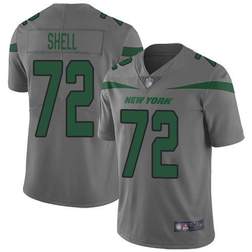 New York Jets Limited Gray Men Brandon Shell Jersey NFL Football 72 Inverted Legend