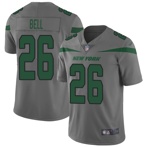 New York Jets Limited Gray Men LeVeon Bell Jersey NFL Football 26 Inverted Legend