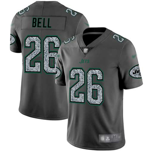 New York Jets Limited Gray Men LeVeon Bell Jersey NFL Football 26 Static Fashion