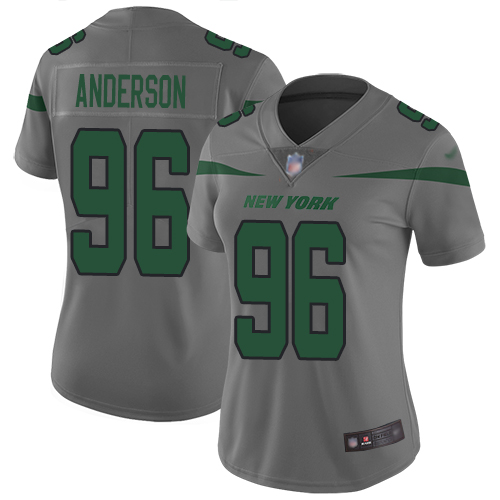 New York Jets Limited Gray Women Henry Anderson Jersey NFL Football 96 Inverted Legend