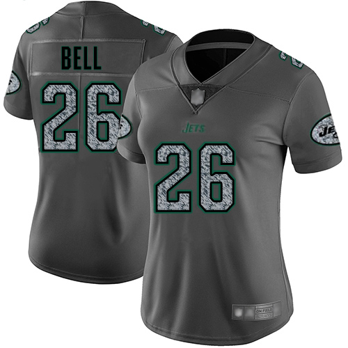 New York Jets Limited Gray Women LeVeon Bell Jersey NFL Football 26 Static Fashion
