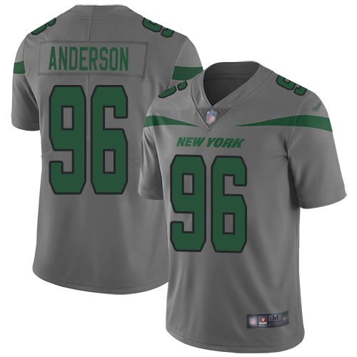New York Jets Limited Gray Youth Henry Anderson Jersey NFL Football 96 Inverted Legend