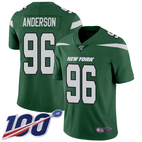 New York Jets Limited Green Men Henry Anderson Home Jersey NFL Football 96 100th Season Vapor Untouchable