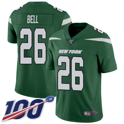 New York Jets Limited Green Men LeVeon Bell Home Jersey NFL Football 26 100th Season Vapor Untouchable