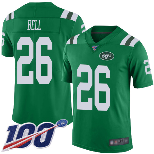 New York Jets Limited Green Men LeVeon Bell Jersey NFL Football 26 100th Season Rush Vapor Untouchable