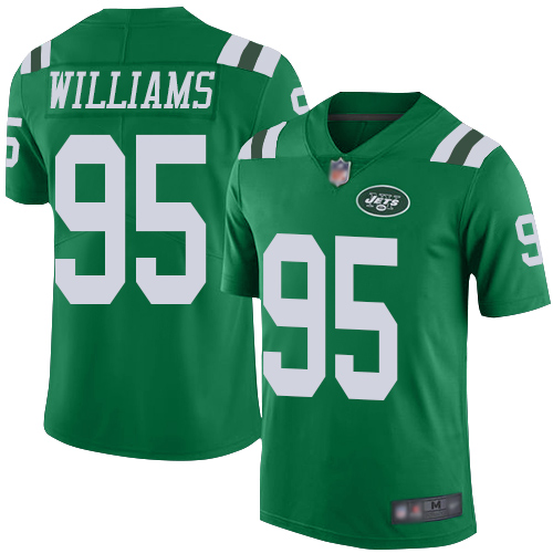New York Jets Limited Green Men Quinnen Williams Jersey NFL Football 95 Rush Vapor Untouchable